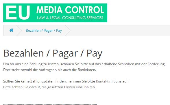 Internetrecht Abmahnung Eu Media Control