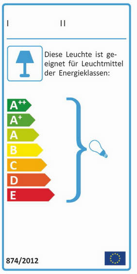 Energielabel Leuchte