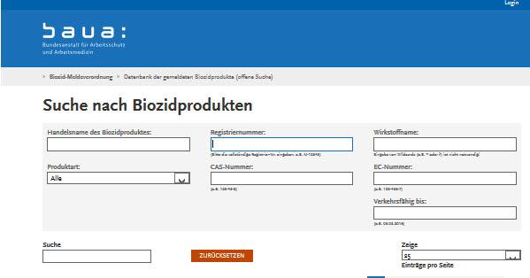 Baua Biozidprodukte