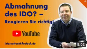 Youtube Abmahnung Des Ido