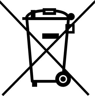 Symbol Muelltonne Elektrogesetz