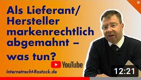 Youtube Als Lieferant Abgemahnt